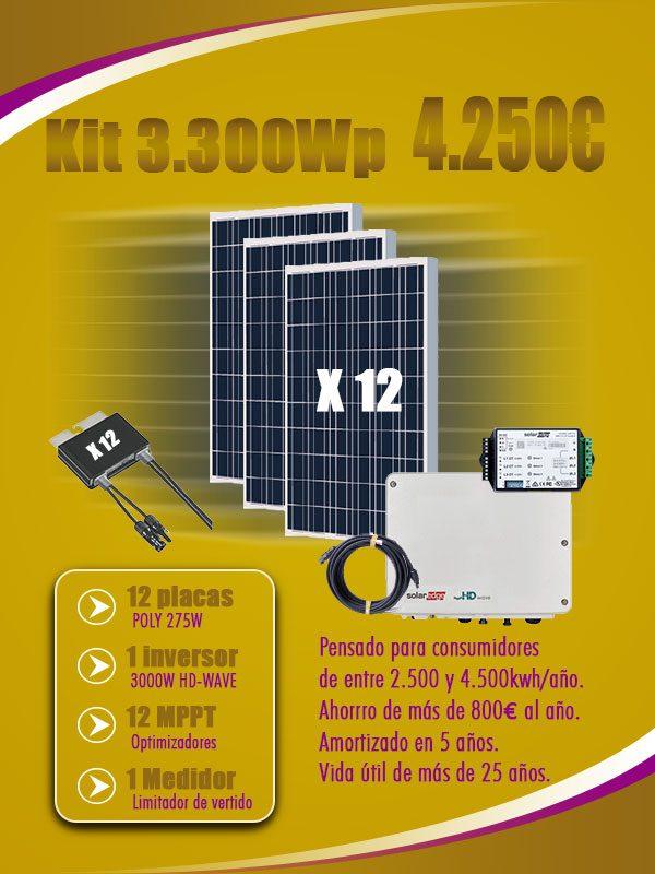 Kit Autoconsumo 3300Wp